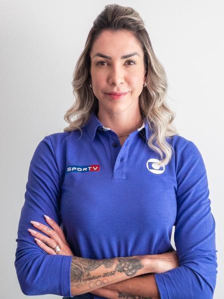 Thaisa tem se destacado sobre os comentários no SporTV - Divulgação/Globo