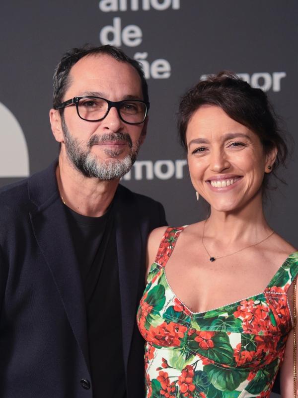 """José Luiz Villamarim e Manuela Dias, autora de """"Amor de Mãe"""""""