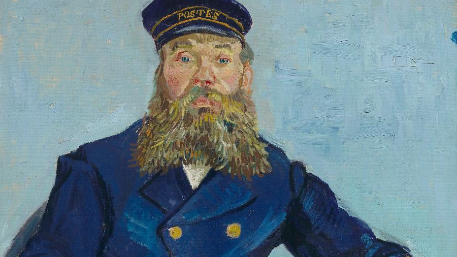 O carteiro Roulin, pintura de Vincent Van Gogh - Reprodução
