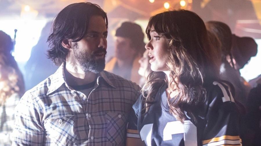 """Milo Ventimiglia e Mandy Moore em cena de """"This is Us"""" - Reprodução"""