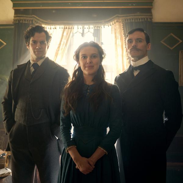 """Henry Cavill, Millie Bobby Brown e Sam Claffin são os irmãos Holmes no filme """"Enola Holmes"""", da Netflix"""