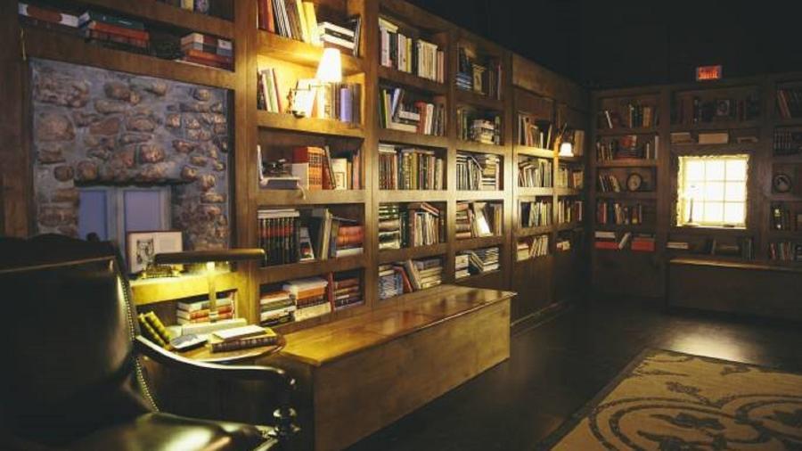 Reprodução da biblioteca antiga de Alberto Manguel - Divulgação