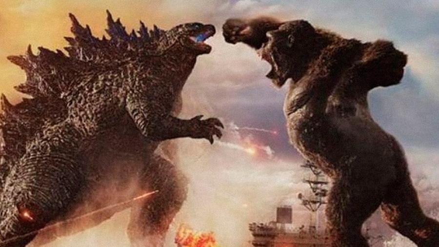 """Imagem oficial de """"Godzilla vs. Kong"""" - Divulgação"""