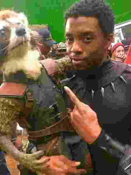 Chadwick Boseman como o Pantera Negra - Reprodução/Instagram - Reprodução/Instagram