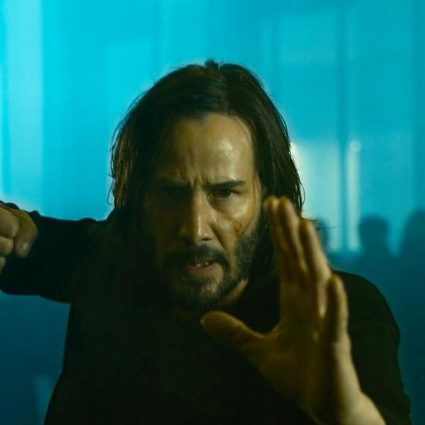 Keanu Reeves como o protagonista de 'Matrix Resurrections'