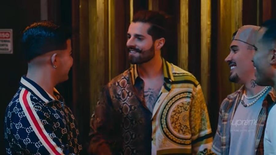 """MC Doni (Jottapê) grava com Alok e Kevinho em cena de """"Sintonia"""", da Netflix - Reprodução/YouTube"""