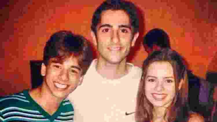 Marcos Mion com Sandy e Junior em 1999 - Reprodução/Instagram - Reprodução/Instagram