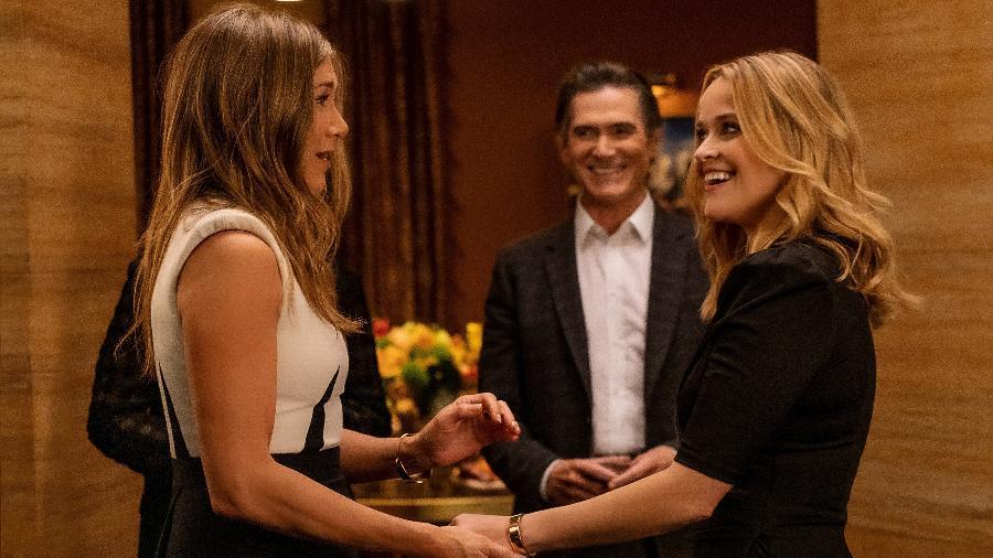"""Jennifer Aniston e Reese Witherspoon em cena na 2ª temporada de """"The Morning Show"""" - Divulgação/Apple TV+"""