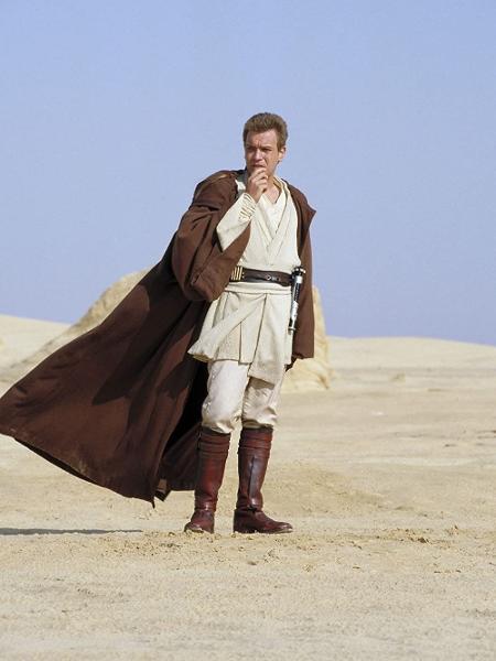 """Ewan McGregor como Obi-Wan Kenobi em """"Star Wars: A Ameaça Fantasma"""" - Divulgação"""