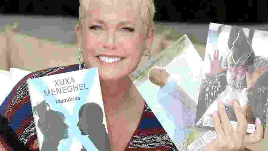 """Xuxa com seu livro, """"Memórias"""" - Blad Meneghel/Divulgação"""