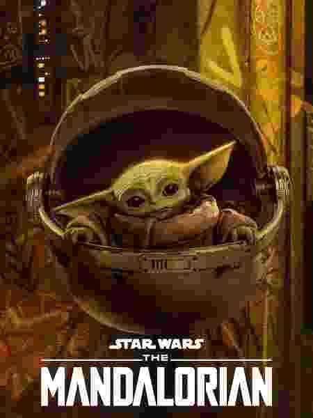 """Baby Yoda em pôster de """"The Mandalorian"""" - Divulgação/Disney"""