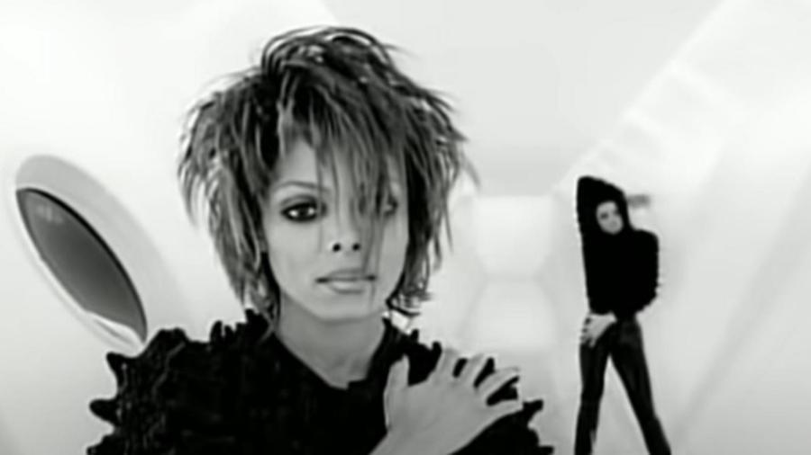 """Janet Jackson no clipe de """"Scream"""", com Michael Jackson; peça foi vendida por US$ 125 mil - Frazer Harrison/Getty Images"""