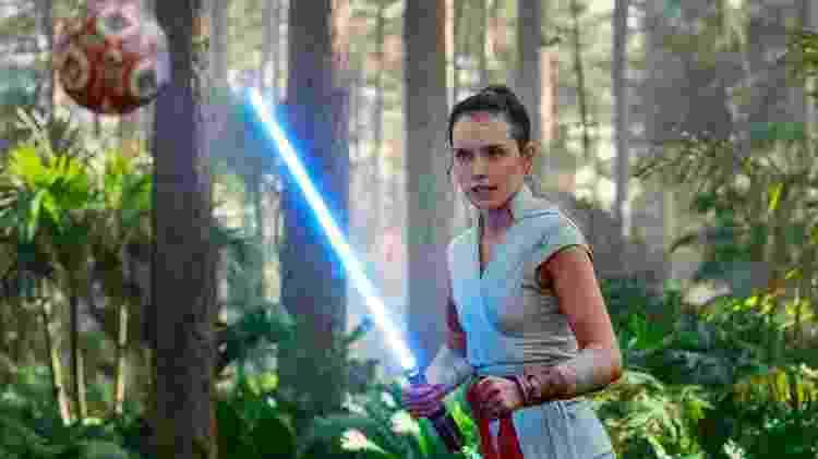 """Daisy Ridley como a personagem Rey em """"Star Wars: A Ascensão Skywalker"""" - reprodução/Star Wars - reprodução/Star Wars"""