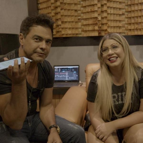 Zezé Di Camargo e Marília Mendonça estão gravando em Goiânia