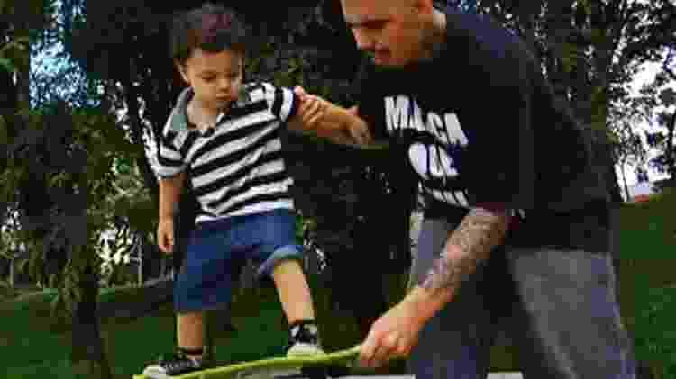 Bruno Souza hoje, com o filho caçula, Zion - Arquivo pessoal - Arquivo pessoal
