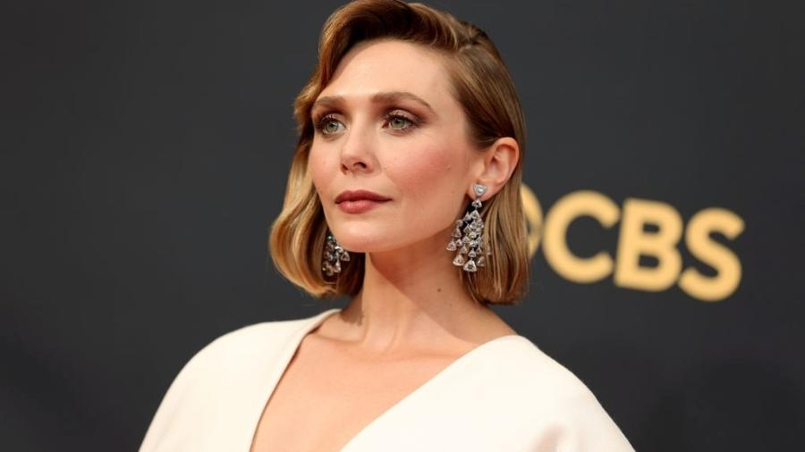 "Elizabeth Olsen, de ""WandaVision"", no Emmy Awards 2021 - Getty Images"