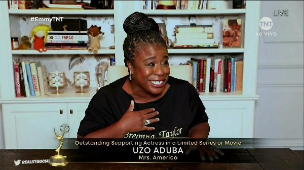 Uzo Aduba ganhou prêmio de Melhor Atriz Coadjuvante em Minissérie por 'Mrs. America'