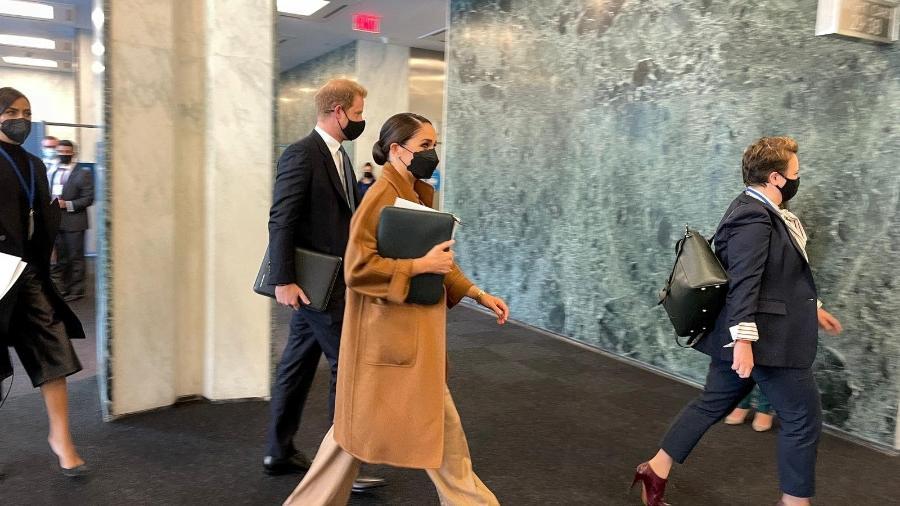 Quando Harry - e Meghan - encontraram o chefe da ONU em Nova York - Por Michelle Nichols e Daphne Psaledakis