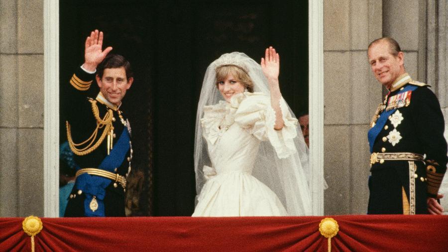 Príncipe Philip durante casamento de seu filho Charles e a princesa Diana - Tim Graham/Tim Graham Photo Library/Getty Images