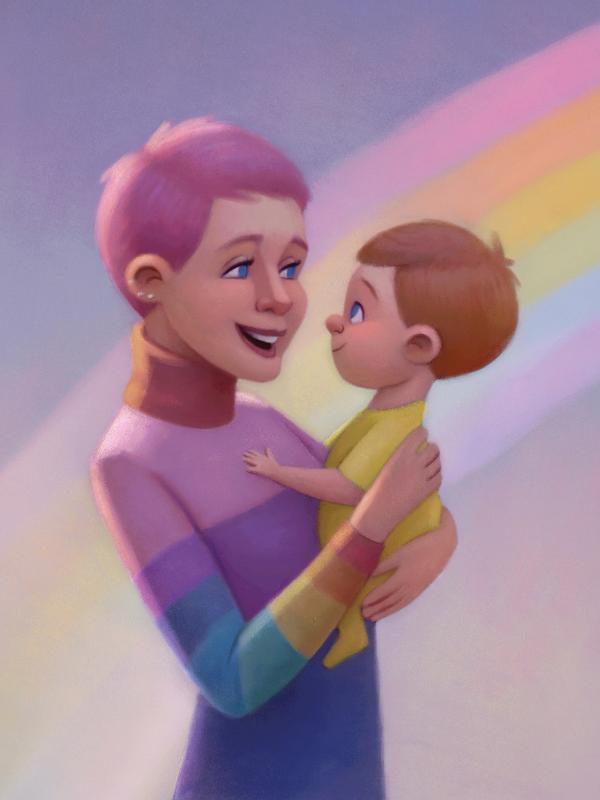 Ilustração do livro 'Maya - Bebê Arco-íris', de Xuxa Meneghel