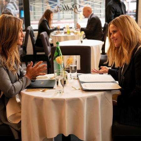 """Jennifer Aniston and Reese Witherspoon in the Scene of Season 2 of """"The Morning Show"""" - Press Release/Apple TV+ - Press Release/Apple TV+"""