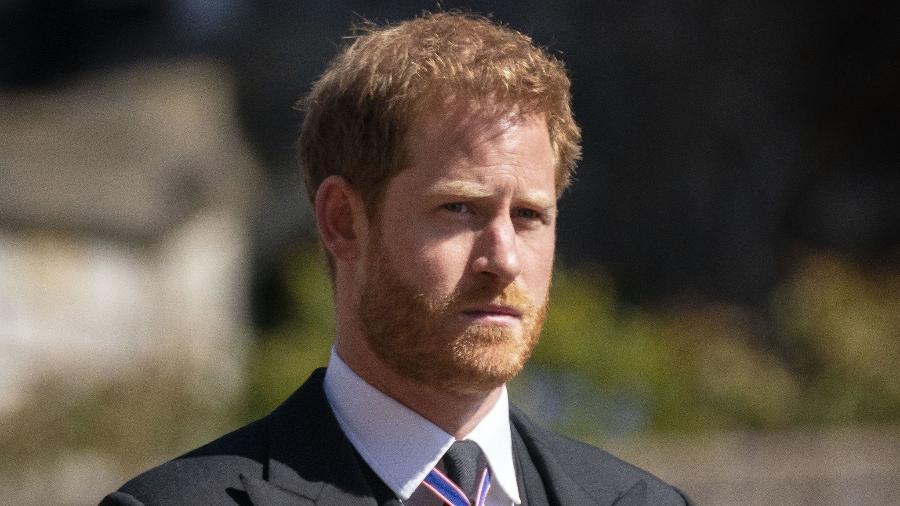 Príncipe Harry em abril de 2021 - PA Media
