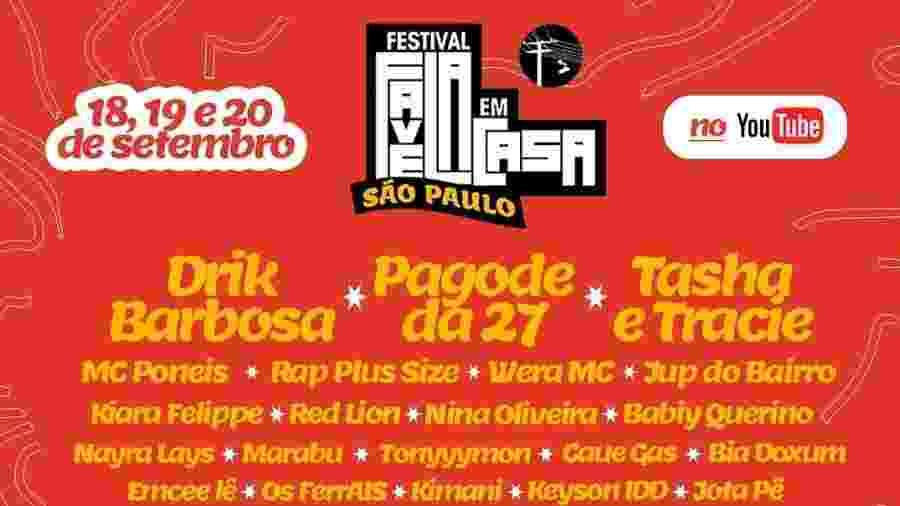 Festival Favela em Casa - Reprodução / Facebook