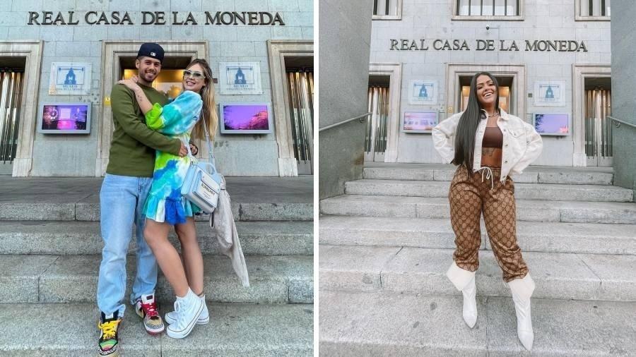 """Zé Felipe, Virgínia e Camila Loures tiram foto em frente à Casa da Moeda da Espanha; prédio não foi cenário de """"La Casa de Papel"""" - Reprodução/Instagram"""