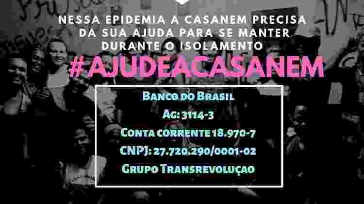 A Casa Nem, ONG carioca, está prestando apoio à população LGBTQ+ afetada pelo coronavírus - Reprodução/Facebook - Reprodução/Facebook