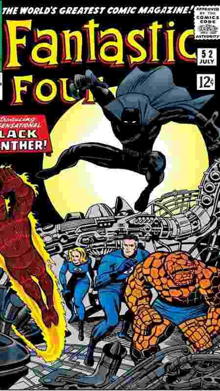 Primeira aparição de Pantera Negra - Marvel/Reprodução - Marvel/Reprodução