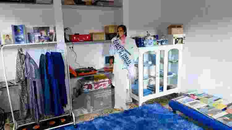 Estúdio Azul da fã de Roberto Carlos, Rosemeire Barbosa, de Piracicaba (SP) - Flavio Moraes/UOL - Flavio Moraes/UOL