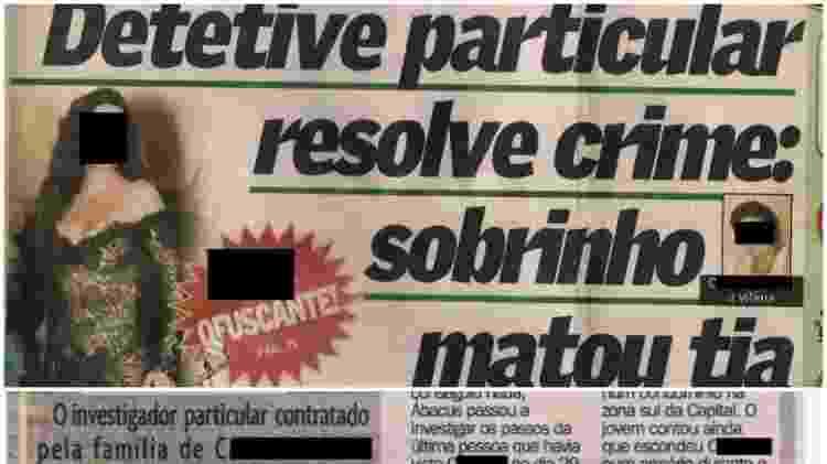 Recorte de jornal enviado pelo Detetive Ábacus narrando um caso solucionado pela agência no Rio Grande do Sul - Arquivo Pessoal - Arquivo Pessoal
