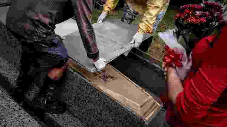 Enterro no Cemitério Municipal São Francisco de Assis, em Florianópolis (SC) - Isadora Camargo/UOL - Isadora Camargo/UOL
