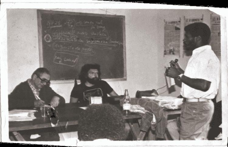 Curso de Formação Política, ministrado em 1986 por Florestan Fernandes e Hector Benoit, para lideranças sindicais - Pedro Barbosa/Arquivo pessoal - Pedro Barbosa/Arquivo pessoal