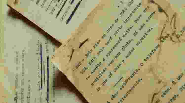 Scripts originais datilografados pela novelista Janete Clair são exemplos de melodrama - Fernando Moraes/Folhapress