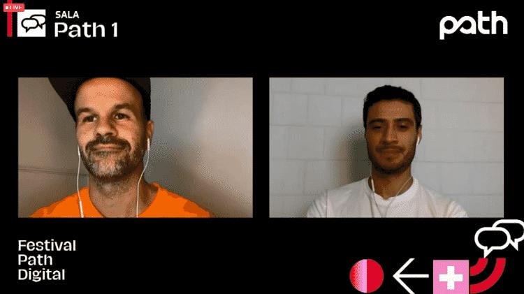 André Carvalhal e Danilo Novais na conversa 'O fim das tendências' - Festival Path/Reprodução - Festival Path/Reprodução