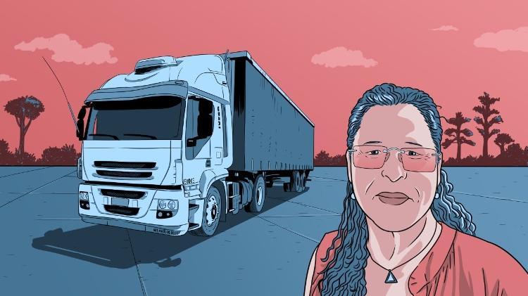 A caminhoneira Noemy Nascimento dos Santos - Leonardo Silva/UOL