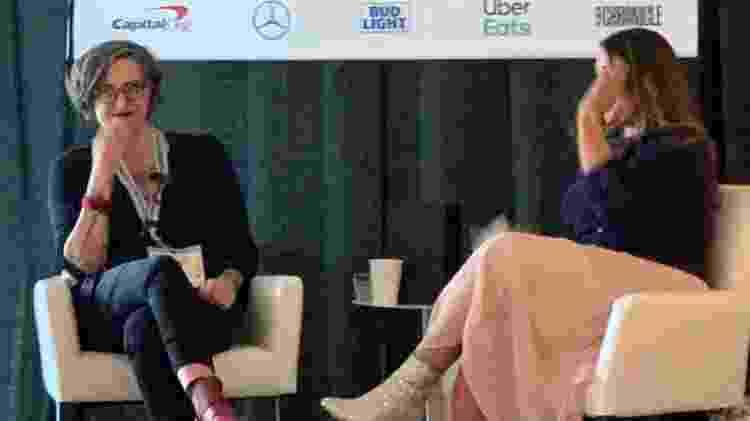 Nadia Bolz-Weber fala durante painel no Sout by Southwest 2019 em Austin, nos EUA - Jacqueline Lafloufa