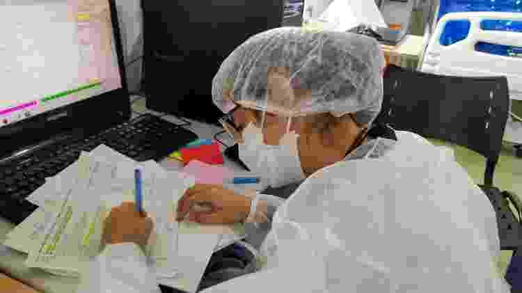 A médica Larissa Rodrigues Assunção, diretora clínica do hospital de campanha da Zona Leste em Porto Velho (RO) - Ísis Capistrano/UOL - Ísis Capistrano/UOL