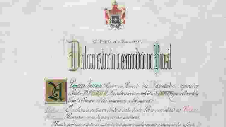 A Lei Áurea - Arquivo Nacional/ Domínio Público - Arquivo Nacional/ Domínio Público
