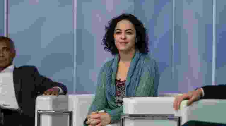 Candidata ao governo do RJ, Marcia Tiburi (PT) participa de debate promovido por SBT e Folha de S.Paulo - Ricardo Borges/Folhapress