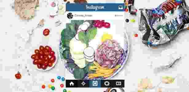 TAB Fakebook perfil instagram comida fitness junk food - Lucas da Rocha Lima/UOL - Lucas da Rocha Lima/UOL