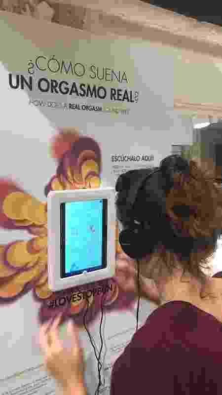 Painel para escuta de orgasmos reais em sex shop das Bijoux Indiscrets, na Espanha - Divulgação - Divulgação