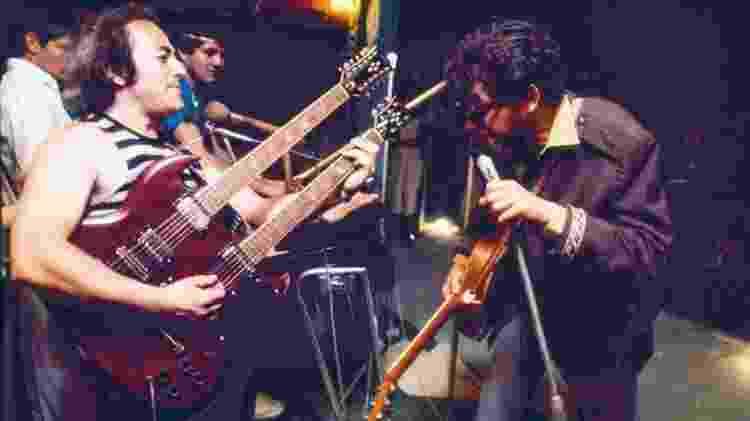 Show de Raul Seixas em turnê pelos garimpos amazônicos, em 1985 - Cris Villares/Divulgação