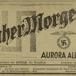 """O periódico do Partido Nazista, """"Aurora Alemã"""", foi publicado entre 1932 e 1941 e divulgava as principais atividades do grupo no Brasil. - Reprodução/UNESP"""