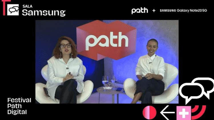 Vanessa Mathias e Lua Couto no debate 'Futuros regenerativos: narrativas rizomáticas emergentes' - Festival Path/Reprodução - Festival Path/Reprodução