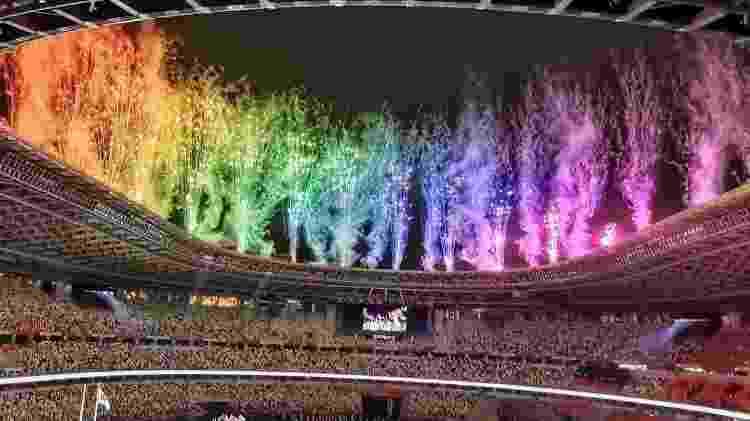 Imagem da cerimônia de encerramento das Paralimpíadas de Tóquio, feita por João Maia - João Maia/Divulgação - João Maia/Divulgação
