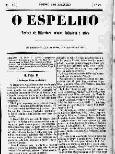 Texto atribuído a Machado de Assis  - Reprodução - Reprodução