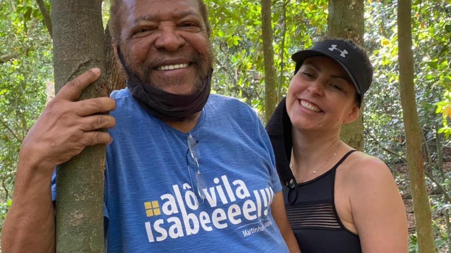 Martinho da Vila e sua mulher, Cleo, na Floresta da Tijuca, no Rio - Arquivo pessoal
