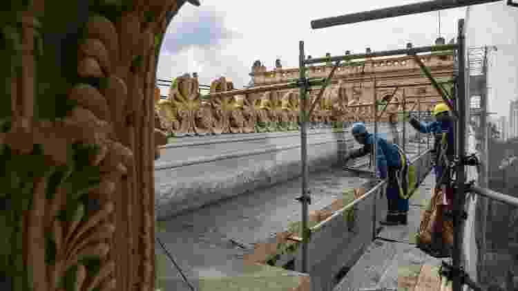 Obras de restauro no Museu do Ipiranga, em São Paulo. Ele deve ser reaberto em 2022 - Helio Nobre/ Museu Paulista - Helio Nobre/ Museu Paulista
